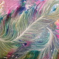Peacock Feathers Pastel by Denise Hoag