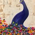Peacock In My Garden by Koni Webb Bosch
