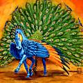 Peacock Pegasus by Melissa A Benson
