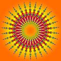 Peacock Sun Mandala Fractal by Ruth Moratz