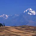 Peaks And Fields Near Cusco Peru by James Brunker