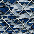 Pealing Paint Fence Abstract 3 by John Brueske