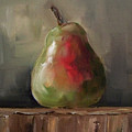 Pear On Wooden Crate by Kristine Kainer