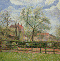 Pear Trees And Flowers At Eragny by Camille Pissarro