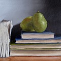 Pears And Books by Jeannette Scranton