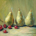 Pears And Grapes by Richard Henderson