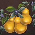 Pears And Holly by Ruth Bares