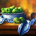 Pears In A Bowl by Tom Forgione