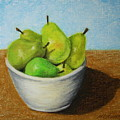 Pears In Bowl 2 by Marna Edwards Flavell