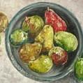 Pears In Bowl by Carol P Kingsley