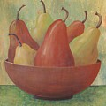 Pears In Copper Bowl by Jeanie Watson