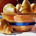 Pears In Yelloware by Toni Grote