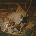 Peasant Brawl In A Tavern by Adriaen van Ostade