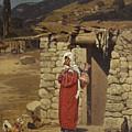Peasant Carrying Water by Pyotr Nikolayevich Gruzinsky
