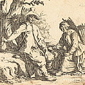 Peasant Couple At Rest by Jacques Callot