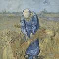 Peasant Woman Binding Sheaves After Millet Saint Remy De Provence  September 1889 Vincent Van Gogh by Artistic Panda