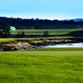 Pebble Beach Golf Links No 18 by Lyle  Huisken