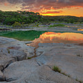 Pedernales River Sunrise, Texas Hill Country 8257 by Rob Greebon