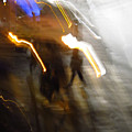 Pedestrians 4  6th Ave Series  Abstract by Ken Lerner