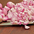Peeled And Chopped Shallots by Louise Heusinkveld