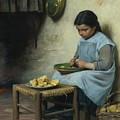 Peeling Potatoes by Mark Carlson