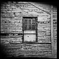 Peeling Wall And Cool Window At Fort Delaware On Film by David Wolanski