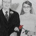 Peggy And John Taylor Wedding Portrait by Quwatha Valentine