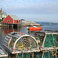 Peggys Cove And Lobster Traps by Thomas Marchessault