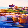Peggys Cove  Four  Row Boats by Carole Spandau