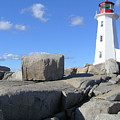 Peggys Cove Light House by Anthony W Weir