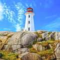 Peggy's Cove Light House by Monica Hall