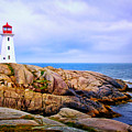 Peggys Cove Lighthouse by Carolyn Derstine