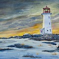 Peggy's Cove Lighthouse by Raymond Edmonds