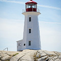 Peggy's Cove Lighthouse by Ron Vollentine
