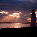 Peggy's Cove Lighthouse Silhouette by Andre Distel