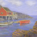 Peggy's Cove Lobster Pots by Ian  MacDonald