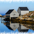 Peggys Cove Marina With Fishing Houses  by Dan Friend