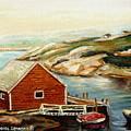 Peggys Cove Nova Scotia Landmark by Carole Spandau