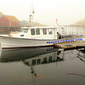 Peggy's Cove Tours Boat In The Rain by Csaba Demzse