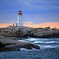 Peggy's Point Lighthouse, Nova Scotia, Canada by Gary Corbett