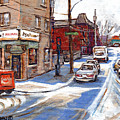 Peintures De Montreal Paintings Petits Formats A Vendre Restaurant Machiavelli Best Original Art   by Carole Spandau