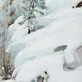 Pekka Halonen, Winter Landscape by Pekka Halonen