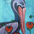 Pelican Poppies 1 by Laurie Maves ART
