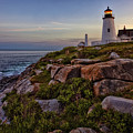 Pemaquid Light At Dusk by Diana Powell