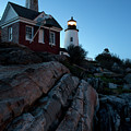 Pemaquid Point Light In Early Evening #8147-48 by John Bald