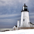 Pemaquid Point Lighthouse In Winter by Olivier Le Queinec