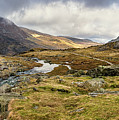 Pen Yr Ole Wen And Tryfan Mountain by Adrian Evans