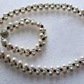 Pendant And Bracelet With Beads by Blerta Kajolli Fisheku