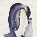 Penguin And Baby by Ken Powers