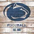 Penn State // Football // Distressed Wood by Tim Miklos